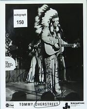 Tommy Overstreet Country Music Star Original Autographed B&W Photograph