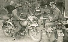 WW2 Photo WWII German Troops with Motorcycles World War Two Wehrmacht  / 2276