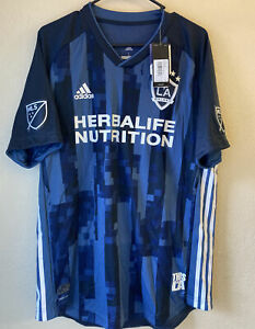 Adidas MLS LA Galaxy 19/20 Away Authentic Climachill Soccer Jersey Size L