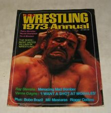 PRO WRESTLING 1973 ANNUAL MAGAZINE COOL BLOOD FACE SHEIK Cover PEDRO MORALES