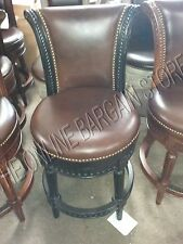 Frontgate Manchester COUNTER Height Leather Barstool Stools Chairs BLACK