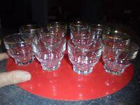 11 Ancien petits Verres à Vin ou Liqueur ou Verrine à apéro tapas cocktail