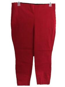 """Old Navy ankle pants size 16 stretch band waist red 26"""" inseam tabbed leg"""