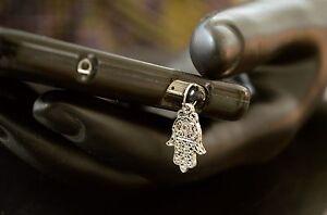 New Silver Hamsa Hand Charm Cell Phone Smart Phone Dust Plug