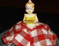 RARE Folding Food Cover Umbrella Protector Pop Up Mesh- Looks like sassy Maxine