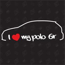 I love my VW Polo 6R - Tuning Sticker, Voiture Ventilateur étiquette