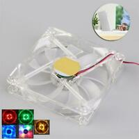 120mm PC Computer Clear Case Quad 4-LED Light 9-Blade CPU Cooling Fan 4 Pin GA