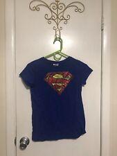 Women's Superman Supergirl Superhero T-Shirt Large 10-12 Preowned