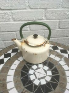 Vintage Green and Cream Enamelware Stove Top Kettle – Judge Ware