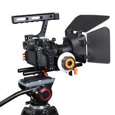 DSLR Camera Cage Shoulder Mount Rig Set Kit C500 Follow Focus Matte Box Orange