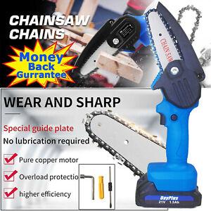 Cordless Electric Chainsaw Cutting Saw Cutter Heavy Duty Tree Branch Wood Cut