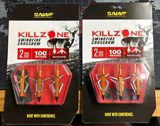 X6 NAP Killzone Swingfire Crossbow Broadhead Arrows 2inch 100 Grain Rear Deploy