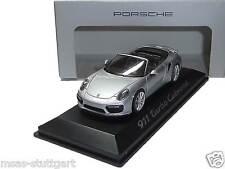 Porsche 911 Turbo Cabriolet Rhodium argent métallisé Herpa 1:43 WAP0201300G neuf
