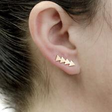 Delicate Minimal Gold Plated Arrow Ear Climbers Crawlers Cuff Earrings petite