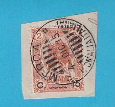 Frammento ITALIA COLONIE SOMALIA 1903-07 Elefante e Leone usato 15 su 2 MERCA