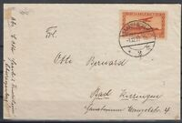 H3456/ SAAR – AIRMAIL – MI # 158 SINGLE ON COVER