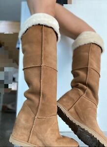 NWB WOMENS SIZE 6 CHESTNUT UGG ABOVE KNEE:))