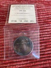 1967 Canada Silver Dollar MS65 ICCS