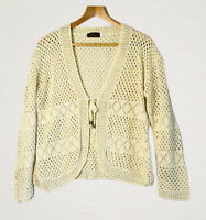 Pyari Collection Lacy Knit Cardigan Size L Edge to Edge Smart Casual Work Office