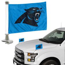 Carolina Panthers Set of 2 Ambassador Style Car Flags - Trunk, Hood