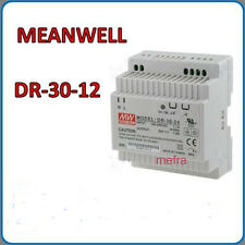 DR-30-12 Alimentatore switching 12V, Meanwell barra guida DIN rail, regolabile