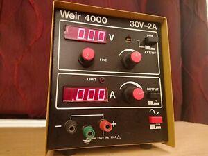 Vintage Weir 4000 30V-2A Bench Worktop Power Supply - Working