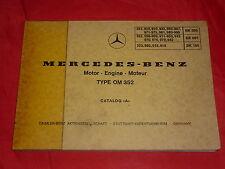 MERCEDES-BENZ Motor Engine Moteur Type OM 352 Ersatzteilliste Katalog von 1975
