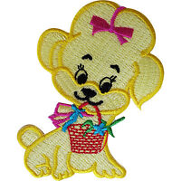 Dog Patch Embroidered Badge Embroidery Crafts Applique Iron Sew On Clothes Bags