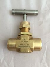 "Brass Needle Valve 1500 psi 1/4"" BSPP"