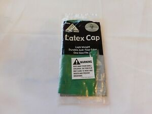 Water Gear Latex Cap Light Weight Durable Anti-Tear Edge One Size Fits All Green