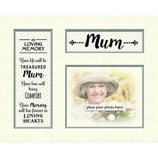 "Contemporary in Loving Memory Mount Tribute Memorial for Photo Frame 10""x8"" Mum"