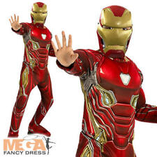 Deluxe Iron Man Boys Fancy Dress Superhero Infinity War Book Kids Childs Costume