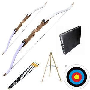 Family Archery Bow Set includes Club Style Adults and Kids Bows Target & Arrows