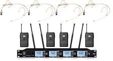 BO-U4201SB 4x100 Channels PLL UHF Wireess Headset / Headworn Microphone System
