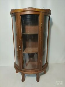 Small 22 Inches Tall Bow Front Curio Cabinet