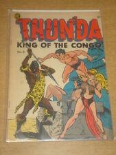 THUNDA KING OF THE CONGO #2 VG+ (4.5) MAGAZINE ENTERTAINMENT CAVE GIRL 1952