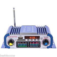 USB FM 12V LED Car Stereo Amplifier Radio Speaker Hi-Fi 2 Channel Digital Player