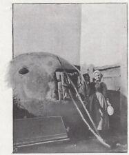 D6480 Stromboli - Un forno da pane a Ginostra - Stampa d'epoca - 1909 old print