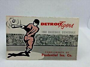 1960 Detroit Tigers Baseball Schedule Prudential Insurance #AF