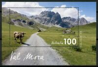 Switzerland Cows Stamps 2019 MNH Val Mora Landscapes Mountains Animals 1v M/S