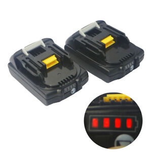 2PCS 18V 2.0Ah BL1820 Battery For Makita BL1830 BL1815 LXT400 BHP451  LED Gauge