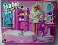 Barbie Doll So Much To Do Bathroom Bathtub Sink Shelving Unit 67151 1995 Mattel
