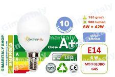 Lampadine Led E14 Miniglobo P45 6W=42W luce fredda Spectrum x 10