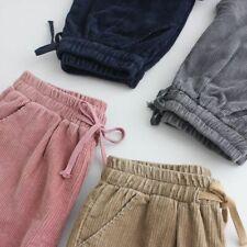 Loose Corduroy Harem Pants High Elastic Waist Drawstring Joggers Ladies Trousers