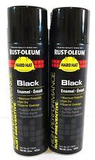 Rust-Oleum Rust Preventative Spray Paint High Gloss Black (2 Cans) V2179838