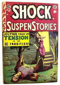 JOHNNY CRAIG FILE COPY SHOCK SUSPENSTORIES #18 CRANDALL - KRIGSTEIN 1954!
