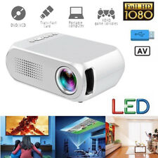 Mini LED Projektor Heimkino 3D Beamer Multimedia Videospiele Full HD 1080P 4K EU