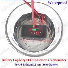 Waterproof 18650 Lithium Li-ion Battery Capacity Detector Tester LED Voltmeter