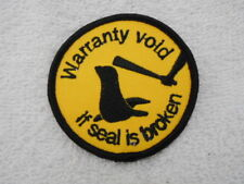 Warranty Void If Seal Is Broken Used Sew On Name Patch Tag