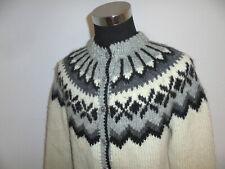 vintage Iceland Sweaters Strickjacke islandpulli Jacke hippie Wolle oldschool M